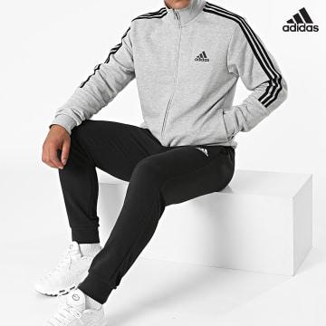 https://laboutiqueofficielle-res.cloudinary.com/image/upload/v1627638668/Desc/Watermark/adidas_performance.svg Adidas Performance - Ensemble De Survetement A Bandes 3 Stripes GK9975 Gris Chiné Noir