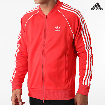 https://laboutiqueofficielle-res.cloudinary.com/image/upload/v1627638668/Desc/Watermark/adidas_performance.svg Adidas Performance - Veste Zippée A Bandes H06711 Rouge