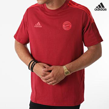 https://laboutiqueofficielle-res.cloudinary.com/image/upload/v1627638668/Desc/Watermark/adidas_performance.svg Adidas Performance - Tee Shirt A Bandes FC Bayern GR0626 Bordeaux
