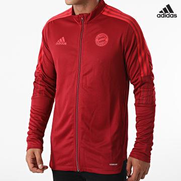 https://laboutiqueofficielle-res.cloudinary.com/image/upload/v1627638668/Desc/Watermark/adidas_performance.svg Adidas Performance - Veste Zippée A Bandes FC Bayern GR0634 Bordeaux