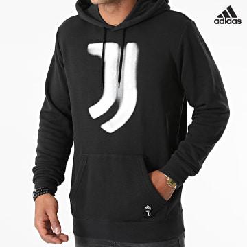 https://laboutiqueofficielle-res.cloudinary.com/image/upload/v1627638668/Desc/Watermark/adidas_performance.svg Adidas Performance - Sweat Capuche Juventus GR2919 Noir