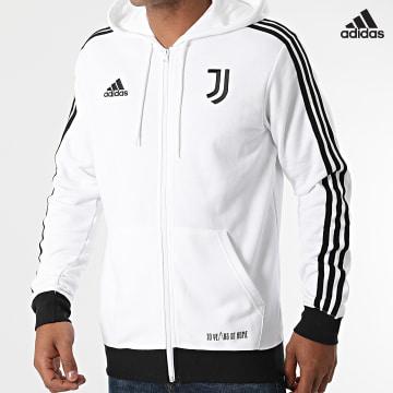 https://laboutiqueofficielle-res.cloudinary.com/image/upload/v1627638668/Desc/Watermark/adidas_performance.svg Adidas Performance - Sweat Zippé Capuche A Bandes Juventus 3 Stripes GR2930 Ecru