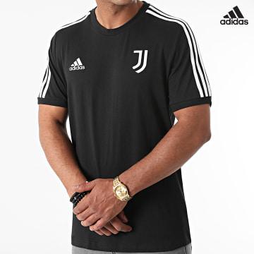 https://laboutiqueofficielle-res.cloudinary.com/image/upload/v1627638668/Desc/Watermark/adidas_performance.svg Adidas Performance - Tee Shirt A Bandes Juventus 3 Stripes GR2933 Noir