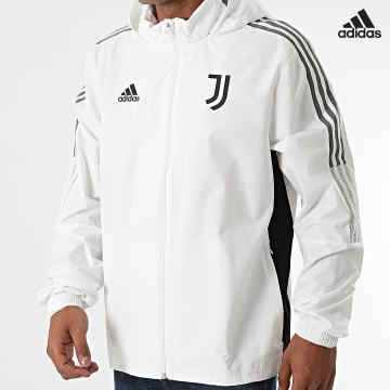 https://laboutiqueofficielle-res.cloudinary.com/image/upload/v1627638668/Desc/Watermark/adidas_performance.svg Adidas Performance - Veste Zippée Capuche A Bandes Juventus GR2943 Ecru