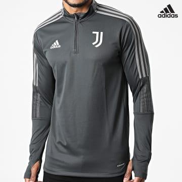 https://laboutiqueofficielle-res.cloudinary.com/image/upload/v1627638668/Desc/Watermark/adidas_performance.svg Adidas Performance - Sweat Col Zippé A Bandes Juventus GR2942 Gris Anthracite