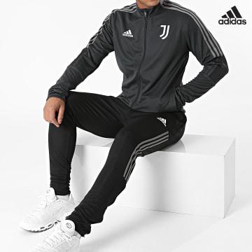 https://laboutiqueofficielle-res.cloudinary.com/image/upload/v1627638668/Desc/Watermark/adidas_performance.svg Adidas Performance - Ensemble De Survêtement Veste Short Jogging Juventus GR2966 Gris Anthracite Noir