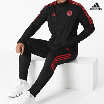 https://laboutiqueofficielle-res.cloudinary.com/image/upload/v1627638668/Desc/Watermark/adidas_performance.svg Adidas Performance - Ensemble De Survetement A Bandes FC Bayern GR0660 Noir