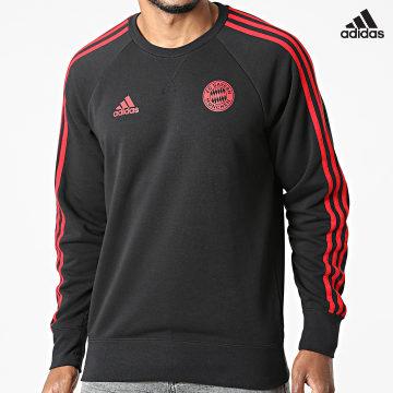 https://laboutiqueofficielle-res.cloudinary.com/image/upload/v1627638668/Desc/Watermark/adidas_performance.svg Adidas Performance - Sweat Crewneck A Bandes FC Bayern GR0666 Noir