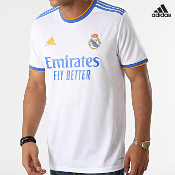 https://laboutiqueofficielle-res.cloudinary.com/image/upload/v1627638668/Desc/Watermark/adidas_performance.svg Adidas Performance - Tee Shirt De Sport A Bandes Real Madrid GQ1359 Blanc