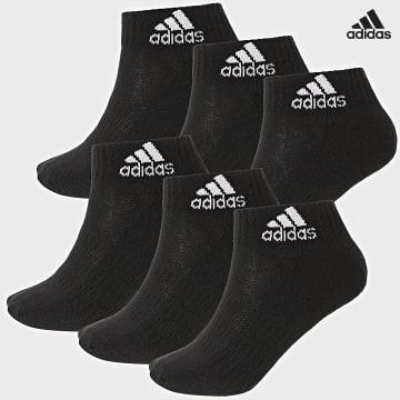https://laboutiqueofficielle-res.cloudinary.com/image/upload/v1627638668/Desc/Watermark/adidas_performance.svg Adidas Performance - Lot De 6 Paires De Chaussettes Cush Ankle DZ9363 Noir