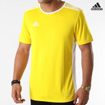 https://laboutiqueofficielle-res.cloudinary.com/image/upload/v1627638668/Desc/Watermark/adidas_performance.svg Adidas Performance - Tee Shirt A Bandes Entrada 18 CD8390 Jaune
