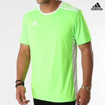 https://laboutiqueofficielle-res.cloudinary.com/image/upload/v1627638668/Desc/Watermark/adidas_performance.svg Adidas Performance - Tee Shirt A Bandes Entrada 18 CE9758 Vert