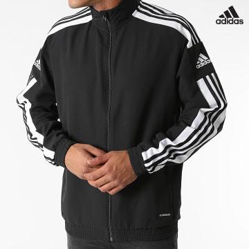 https://laboutiqueofficielle-res.cloudinary.com/image/upload/v1627638668/Desc/Watermark/adidas_performance.svg Adidas Performance - Veste Zippée A Bandes GK9549 Noir