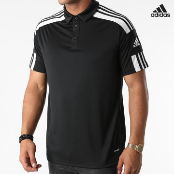 https://laboutiqueofficielle-res.cloudinary.com/image/upload/v1627638668/Desc/Watermark/adidas_performance.svg Adidas Performance - Polo Manches Courtes A Bandes Squad 21 GK9556 Noir