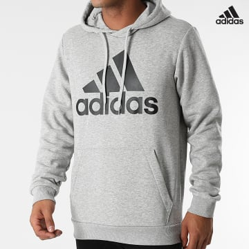 https://laboutiqueofficielle-res.cloudinary.com/image/upload/v1627638668/Desc/Watermark/adidas_performance.svg Adidas Performance - Sweat Capuche GK9577 Gris Chiné