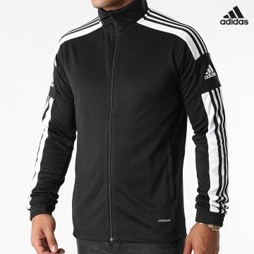 https://laboutiqueofficielle-res.cloudinary.com/image/upload/v1627638668/Desc/Watermark/adidas_performance.svg Adidas Performance - Veste Zippée A Bandes Squad 21 GK9546 Noir