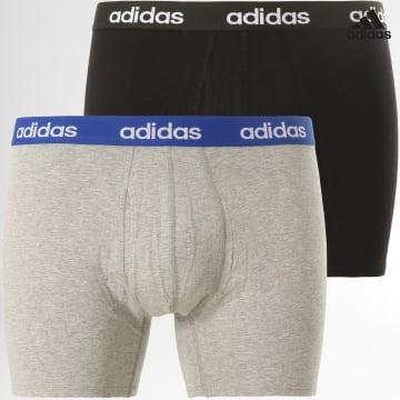 https://laboutiqueofficielle-res.cloudinary.com/image/upload/v1627638668/Desc/Watermark/adidas_performance.svg Adidas Performance - Lot De 2 Boxers Linear GN2072 Noir Gris Chiné
