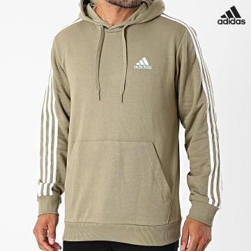 https://laboutiqueofficielle-res.cloudinary.com/image/upload/v1627638668/Desc/Watermark/adidas_performance.svg Adidas Performance - Sweat Capuche A Bandes H12176 Vert Kaki