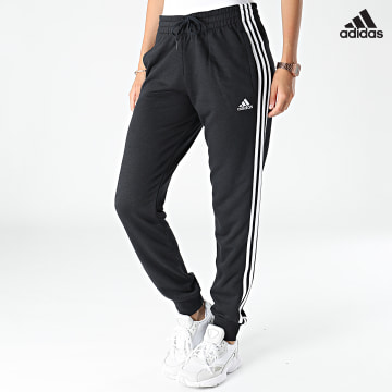 https://laboutiqueofficielle-res.cloudinary.com/image/upload/v1627638668/Desc/Watermark/adidas_performance.svg Adidas Performance - Pantalon Jogging Femme A Bandes 3 Stripes French Terry GM8733 Noir