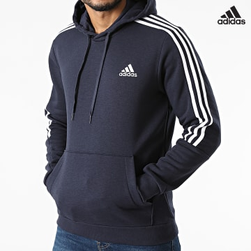 https://laboutiqueofficielle-res.cloudinary.com/image/upload/v1627638668/Desc/Watermark/adidas_performance.svg Adidas Performance - Sweat Capuche A Bandes Cut 3 Stripes GK9584 Bleu Marine