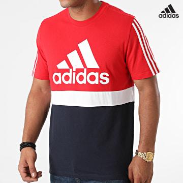https://laboutiqueofficielle-res.cloudinary.com/image/upload/v1627638668/Desc/Watermark/adidas_performance.svg Adidas Performance - Tee Shirt Tricolore A Bandes H58978 Rouge Bleu Marine Blanc