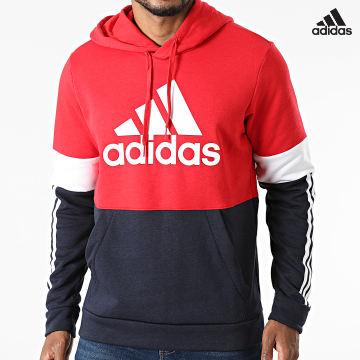 https://laboutiqueofficielle-res.cloudinary.com/image/upload/v1627638668/Desc/Watermark/adidas_performance.svg Adidas Performance - Sweat Capuche A Bandes CB H58980 Bleu Marine Rouge