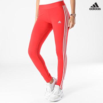 https://laboutiqueofficielle-res.cloudinary.com/image/upload/v1627638668/Desc/Watermark/adidas_performance.svg Adidas Performance - Legging Femme A Bandes H07772 Rouge