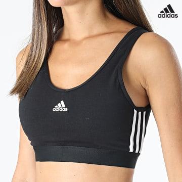 https://laboutiqueofficielle-res.cloudinary.com/image/upload/v1627638668/Desc/Watermark/adidas_performance.svg Adidas Performance - Brassière Femme A Bandes GS1343 Noir