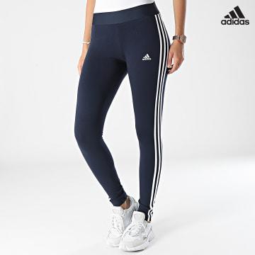 https://laboutiqueofficielle-res.cloudinary.com/image/upload/v1627638668/Desc/Watermark/adidas_performance.svg Adidas Performance - Legging Femme A Bandes H07771 Bleu Marine