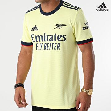 https://laboutiqueofficielle-res.cloudinary.com/image/upload/v1627638668/Desc/Watermark/adidas_performance.svg Adidas Performance - Tee Shirt De Sport A Bandes Arsenal GM0218 Jaune