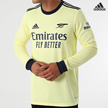 https://laboutiqueofficielle-res.cloudinary.com/image/upload/v1627638668/Desc/Watermark/adidas_performance.svg Adidas Performance - Tee Shirt De Sport Manches Longues A Bandes Arsenal GQ3263 Jaune