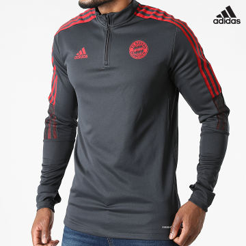 https://laboutiqueofficielle-res.cloudinary.com/image/upload/v1627638668/Desc/Watermark/adidas_performance.svg Adidas Performance - Tee Shirt Manches Longues A Bandes FC Bayern GR0664 Gris Anthracite