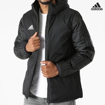 https://laboutiqueofficielle-res.cloudinary.com/image/upload/v1627638668/Desc/Watermark/adidas_performance.svg Adidas Performance - Veste Zippée Capuche A Bandes JKT18 CV8271 Noir