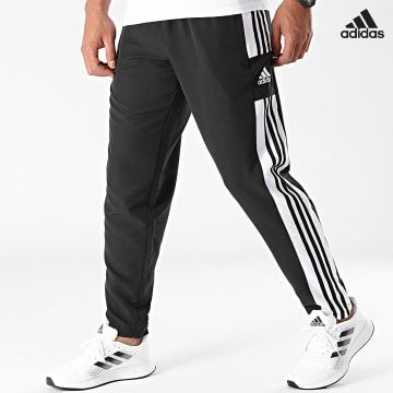 https://laboutiqueofficielle-res.cloudinary.com/image/upload/v1627638668/Desc/Watermark/adidas_performance.svg Adidas Performance - Pantalon Jogging A Bandes Squadra 21 Presentation GT8795 Noir