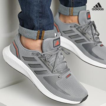 https://laboutiqueofficielle-res.cloudinary.com/image/upload/v1627638668/Desc/Watermark/adidas_performance.svg Adidas Performance - Baskets RunFalcon 2 GZ8078 Grey Iron Metallic Solar Red