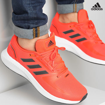 https://laboutiqueofficielle-res.cloudinary.com/image/upload/v1627638668/Desc/Watermark/adidas_performance.svg Adidas Performance - Baskets RunFalcon 2 H04537 Solar Red Carbon Grey