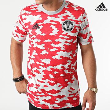 https://laboutiqueofficielle-res.cloudinary.com/image/upload/v1627638668/Desc/Watermark/adidas_performance.svg Adidas Performance - Tee Shirt De Sport Manchester United GR3914 Rouge Gris Clair