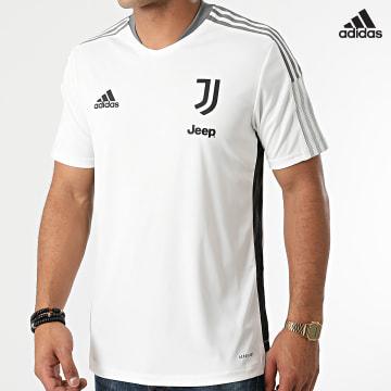 https://laboutiqueofficielle-res.cloudinary.com/image/upload/v1627638668/Desc/Watermark/adidas_performance.svg Adidas Performance - Tee Shirt De Sport A Bandes Juventus GR2937 Ecru