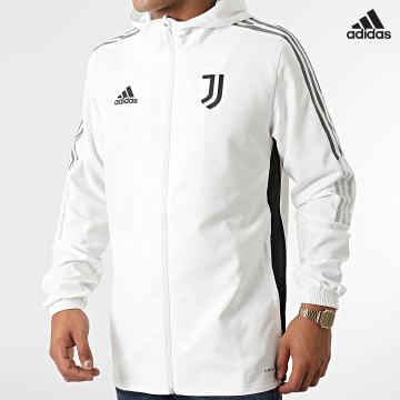 https://laboutiqueofficielle-res.cloudinary.com/image/upload/v1627638668/Desc/Watermark/adidas_performance.svg Adidas Performance - Veste Zippée Capuche A Bandes Juventus GR2967 Ecru