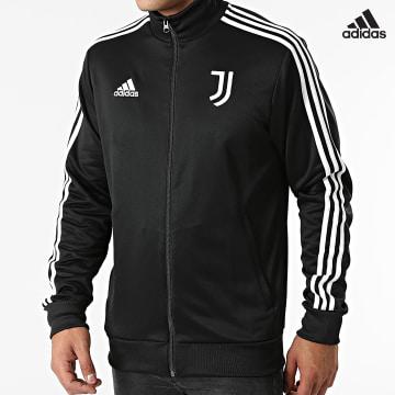 https://laboutiqueofficielle-res.cloudinary.com/image/upload/v1627638668/Desc/Watermark/adidas_performance.svg Adidas Performance - Veste Zippée A Bandes Juventus GR2929 Noir
