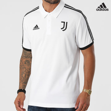 https://laboutiqueofficielle-res.cloudinary.com/image/upload/v1627638668/Desc/Watermark/adidas_performance.svg Adidas Performance - Polo Manches Courtes A Bandes Juventus GR2932 Blanc
