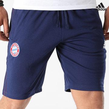 https://laboutiqueofficielle-res.cloudinary.com/image/upload/v1627638668/Desc/Watermark/adidas_performance.svg Adidas Performance - Short Jogging A Bandes FC Bayern GR0699 Bleu Marine