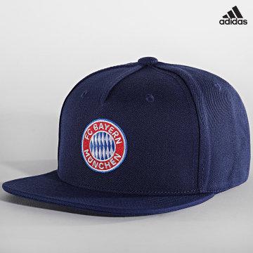 https://laboutiqueofficielle-res.cloudinary.com/image/upload/v1627638668/Desc/Watermark/adidas_performance.svg Adidas Performance - Casquette Snapback FC Bayern GU0057 Bleu Marine