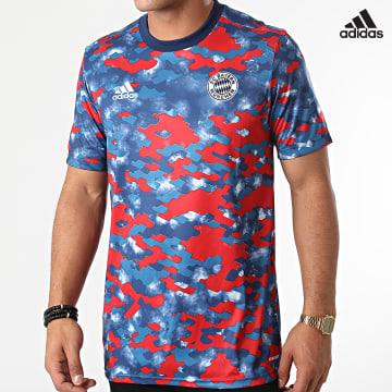 https://laboutiqueofficielle-res.cloudinary.com/image/upload/v1627638668/Desc/Watermark/adidas_performance.svg Adidas Performance - Tee Shirt De Sport FC Bayern GR0652 Bleu Marine Rouge