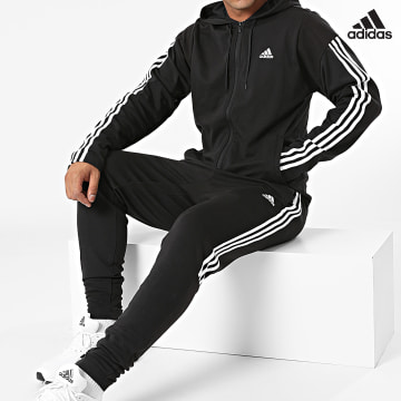 https://laboutiqueofficielle-res.cloudinary.com/image/upload/v1627638668/Desc/Watermark/adidas_performance.svg Adidas Performance - Ensemble De Survetement A Bandes Rib GM3827 Noir