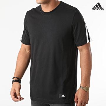 https://laboutiqueofficielle-res.cloudinary.com/image/upload/v1627638668/Desc/Watermark/adidas_performance.svg Adidas Performance - Tee Shirt A Bandes Future Icons 3 Stripes GR4094 Noir