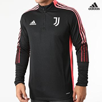 https://laboutiqueofficielle-res.cloudinary.com/image/upload/v1627638668/Desc/Watermark/adidas_performance.svg Adidas Performance - Sweat Col Zippé A Bandes Juventus HC4706 Noir