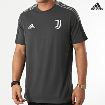 https://laboutiqueofficielle-res.cloudinary.com/image/upload/v1627638668/Desc/Watermark/adidas_performance.svg Adidas Performance - Tee Shirt A Bandes Juventus GR2972 Gris Anthracite