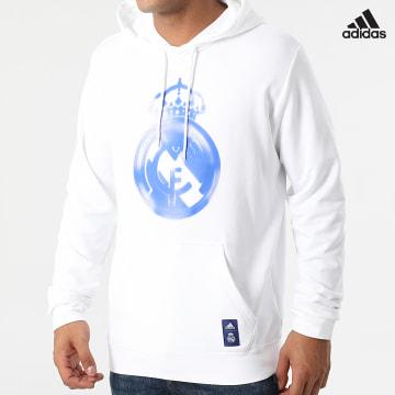 https://laboutiqueofficielle-res.cloudinary.com/image/upload/v1627638668/Desc/Watermark/adidas_performance.svg Adidas Performance - Sweat Capuche Real Madrid HD GR4247 Ecru