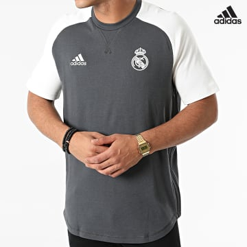 https://laboutiqueofficielle-res.cloudinary.com/image/upload/v1627638668/Desc/Watermark/adidas_performance.svg Adidas Performance - Tee Shirt Real Madrid GR4266 Gris Anthracite